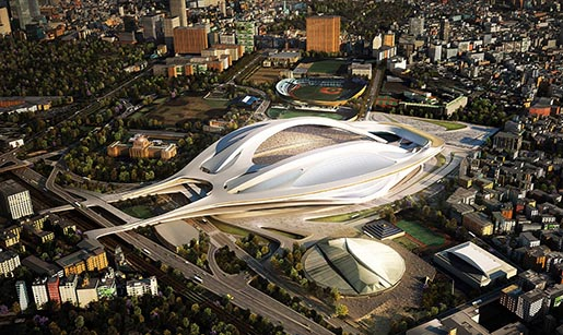 Zaha Hadid New Stadium in Japan
