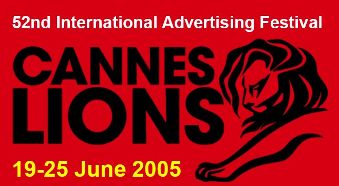 Cannes Lions Awards 2005 screenshot from web site