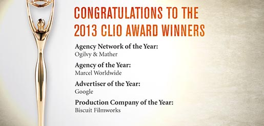 2013 Clio Awards Winners