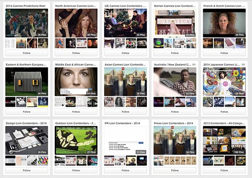 Leo Burnett Cannes Predictions 2014 Pinterest Boards