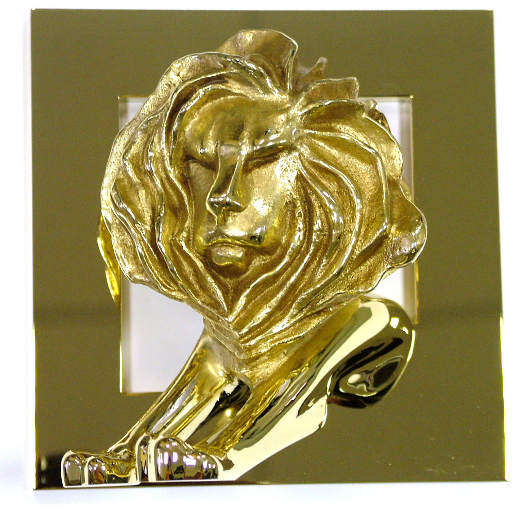Gold Press Lion