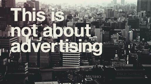 This is not about adverising