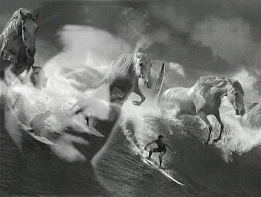 Jonathan Glazer with Guinness Surf Horses