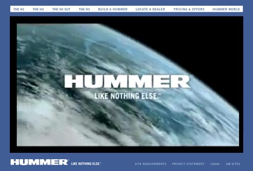 Hummer site ad
