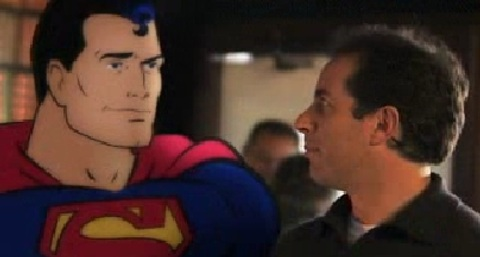 Superman and Seinfeld in American Express Ad