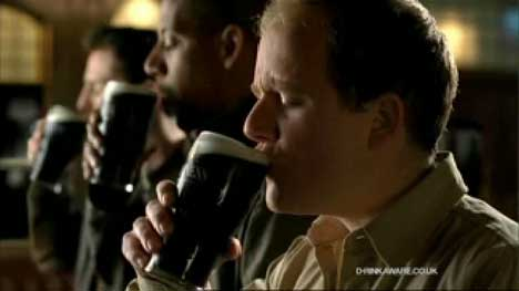 Drinkers in Guinness Evolution ad