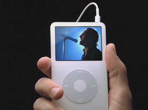 U2 sing Original of the Species on Apple iPod Video TV Ad