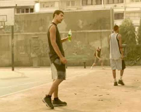Actors in Sprite Basketball Pool TV Ad