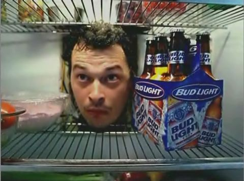 Face appears in Bud Light Scary Fridge Ad