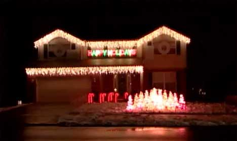 Miller Lite Christmas Lights House