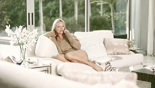Kate Moss in Virgin Mobile commercial
