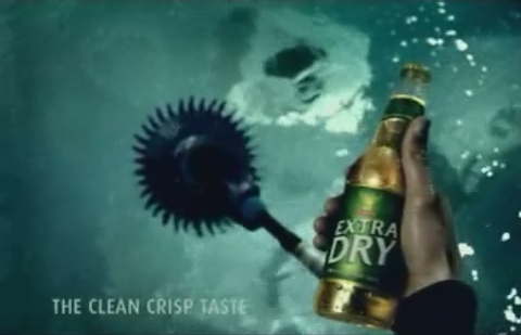 Tooheys Extra Dry Bottle in TV Ad