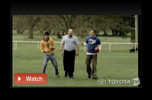 Toyota AFL Legendary Moments Wayne Harmes ad