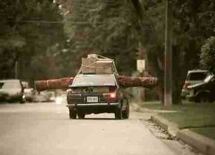 Car prepares to turn right in Ikea Persian Rug ad