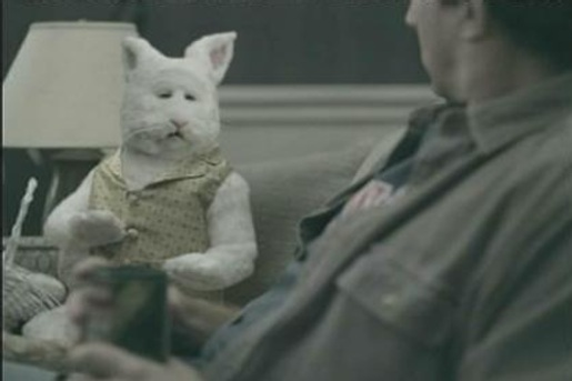 Easter Bunny on Emerald Nuts TV Ad