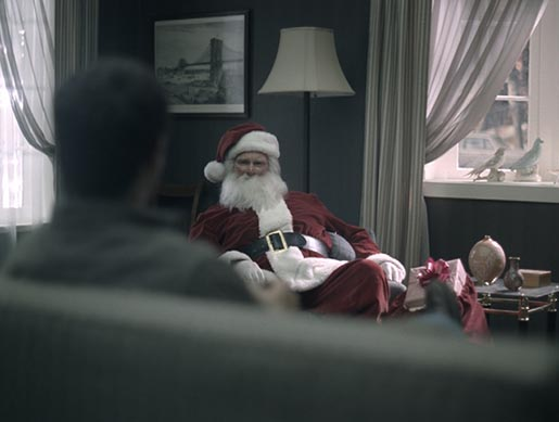 Santa on Emerald Nuts TV Ad