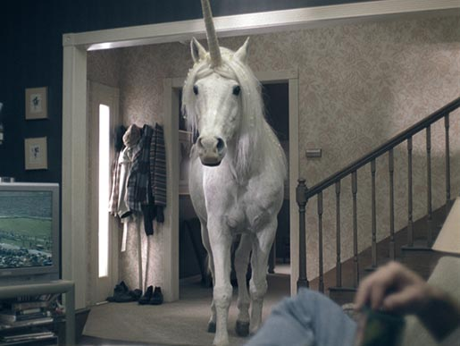 Unicorn on Emerald Nuts TV Ad