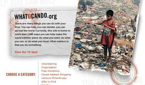 Screen shot from WhatUCanDo.org site