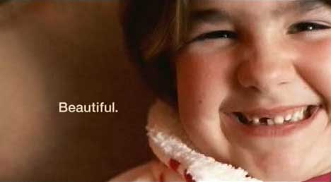 Beautiful smile in Dove Real Beauty Ad