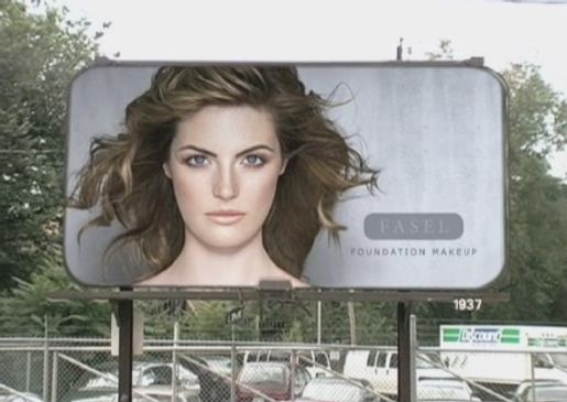 Billboard for Fasel Foundation Makeup from Dove Evolution ad