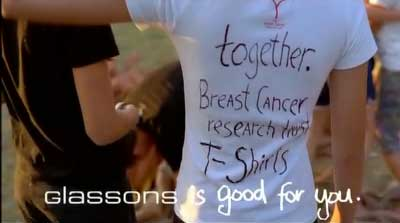 T-Shirt from Glassons Breast Cancer campaign