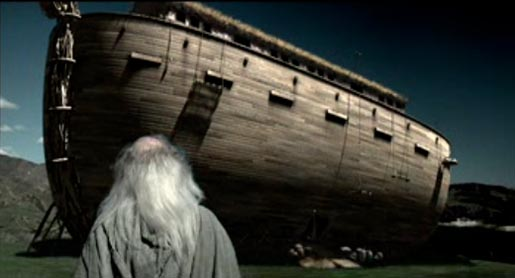Noah looks at his ark in St Paul commercial