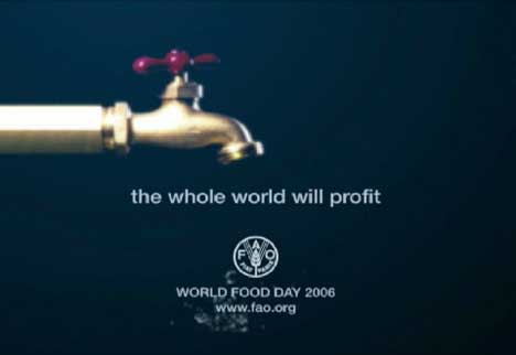 Final shot from World Food Day TV ad