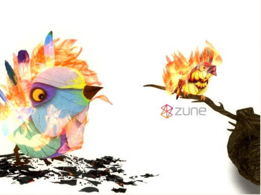 Wallpaper image from Zune Birds site