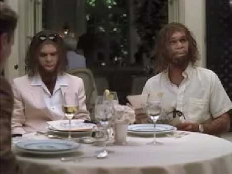 Cavemen in Geico Restaurant ad