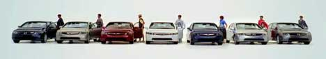 Seven cars in Honda Freedom Civic Freedom ad