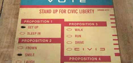 Voting form in Honda Freedom Civic Freedom ad