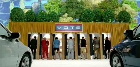 Voters in Honda Freedom Civic Freedom ad