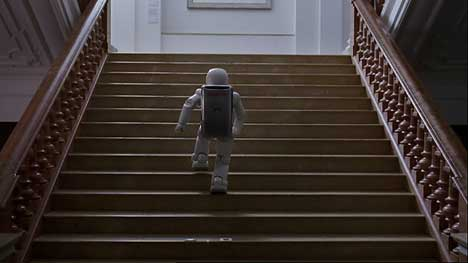 Asimo climbs stairs in Honda TV ad