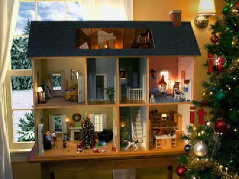 Miniature house in Ebay It TV commercial