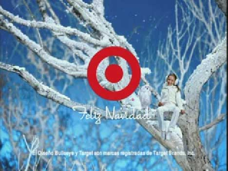 Target says Feliz Navidad in childrens TV ad