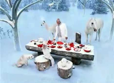 Winter table in Target TV ad