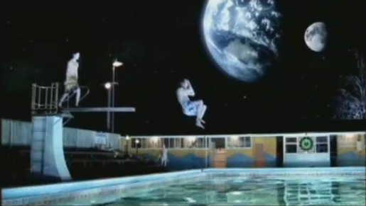 Mars Swimming Pool TV Ad Still