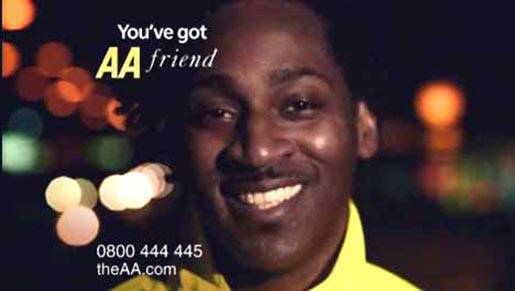 AA You've Got A Friend Final Frame in TV Ad