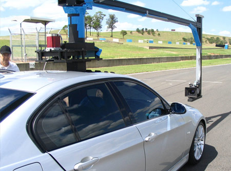 Camera rig used in BMW TV ad