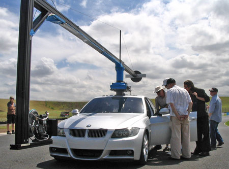 Rig used in BMW TV ad