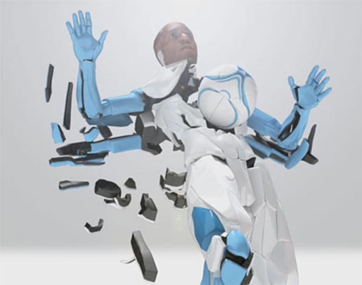 Modular Man reassembling