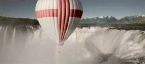 St George Cross on Balloon in Honda Impossible Dream TV Ad