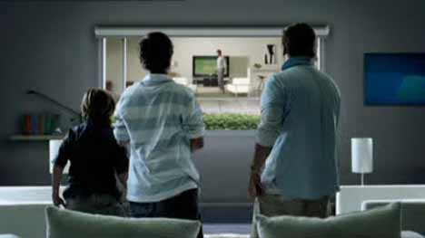 Neighbours watch TV in LG DVR ad