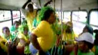 Fans on a bus in Brazil?