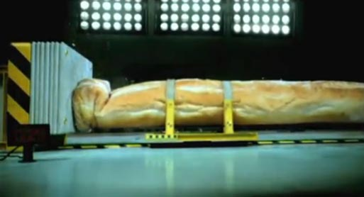 Baguette in Renault Crash Test TV Ad
