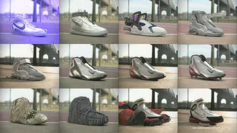 Shoes used in Nike Evolution ad