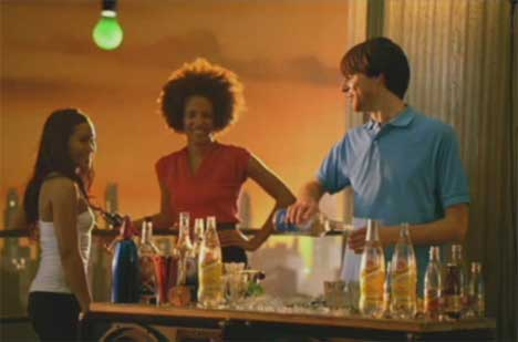 Cocktails in Schweppes TV ad