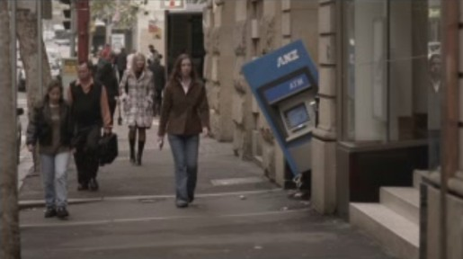 ATM follows man in TV ad
