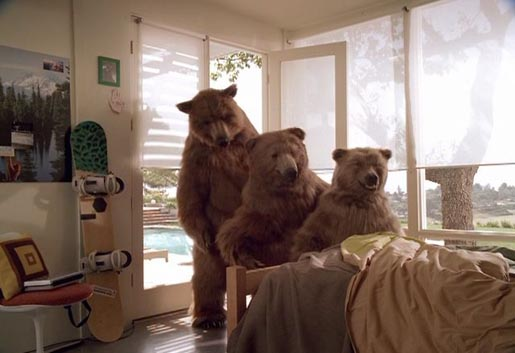 Three bears in Hummer Bedroom st