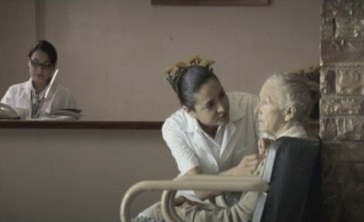 Hospital ward in Alzheimer TV ad